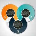 Abstract vector background with three levels circular tiers for text Royalty Free Stock Image