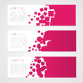 Abstract vector banners colorful background Royalty Free Stock Photo