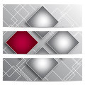 Abstract vector banners with squares four for your business and design Stock Images