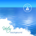 Abstract Vector Blue Water Bac...