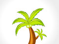 Abstract vector coconut tree illustration Stock Image