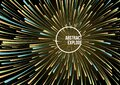 Abstract vector colorful swirl line explode background in orange color. Firework, particle, motion speed concept