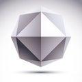 Abstract Vector 3D Geometric O...