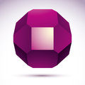 Abstract Vector 3D Geometric O...