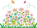 Abstract vector. Flower bed. Stock Photos