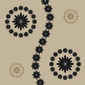 Abstract vector flowers on brown background. Stock Photos