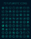 Abstract vector futuristic icons