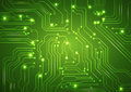 Abstract vector green background with high tech circuit board