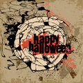Abstract vector halloween grunge design card background Stock Photos