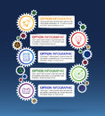 stock image of  Abstract vector Illustration of infographic design with gear and