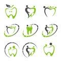 Abstract Vector illustration of teeth. Dental logo.