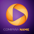 Abstract vector logo Royalty Free Stock Photo