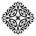 Abstract vector mehndi tattoo ornament illustration of Royalty Free Stock Image
