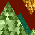 Abstract Vector Mountain Backg...