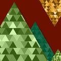 Abstract Vector Mountain Backg...