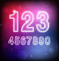 Abstract vector numbers on colorful background Stock Images