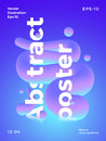 Abstract Vector Poster Template. Modern Gradients and Liquid Elements with Minimal Typography. Bright Colorful