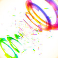 Abstract vector rainbow colors tornado twirl spiral Stock Image