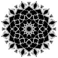 Abstract vector round lace design with round corners - mandala, decorative element Royalty Free Stock Photo