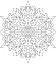 Abstract Vector Round Lace Des...