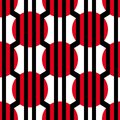 Abstract vector seamless op art pattern. Colorful graphic ornament. Royalty Free Stock Photo