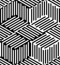Abstract vector seamless op art pattern. Pop art, graphic ornament. Optical illusion.