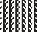 Abstract vector seamless pattern black and white can be used as background Royalty Free Stock Images