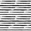 Abstract vector seamless pattern with black and white stripes. V