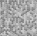 Abstract vector seamless pattern with fish scales. Reptile, snake, lizard, mermaid tail, dragon skin texture. Natral gray Royalty Free Stock Photo