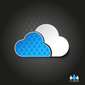 Abstract vector shape cloud people pattern Royalty Free Stock Photography