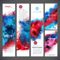 Abstract vector template banners Royalty Free Stock Photo