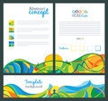 Abstract vector template design. Travel concept banners. Royalty Free Stock Photo