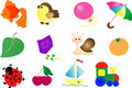 Abstract vector toy icon set Stock Photos