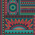 Abstract vector tribal ethnic background geometric pattern Royalty Free Stock Photography