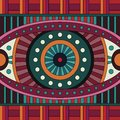 Abstract vector tribal ethnic background seamless pattern geometric Stock Image
