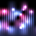 Abstract Vertical Glowing Lights Background Illustration