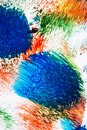 Abstract vibrant acrylic art background