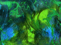 Abstract Vibrant Green Blue Te...