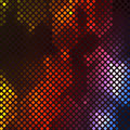 Abstract vibrant mosaic made square colorful elements dark background Stock Image