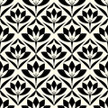 Abstract vintage geometric wallpaper pattern seamless background Royalty Free Stock Photo