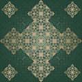 Abstract vintage pattern on seamless background wallpaper in a green Stock Images