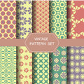 Abstract vintage pattern set, vector Royalty Free Stock Photo