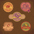 Abstract vintage style fruit label vector illustration Royalty Free Stock Photos