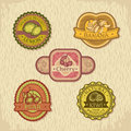 Abstract vintage style fruit label vector illustration Royalty Free Stock Images