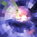 Abstract violet shining circle tunnel background lined Royalty Free Stock Photos