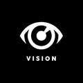 Abstract vision logo with eye icon concept. Vector illustration.