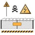 Abstract warning signs set Stock Photos