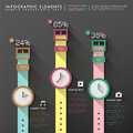 Abstract watches infographics vector flat design infographic elements Stock Images