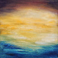 Abstract water sunset. Oil painting on canvas. Royalty Free Stock Photo