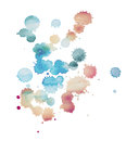 Abstract watercolor aquarelle hand drawn blot colorful paint splatter stain Royalty Free Stock Photo